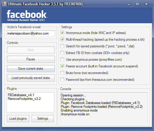 download facebook account hacking software full version free